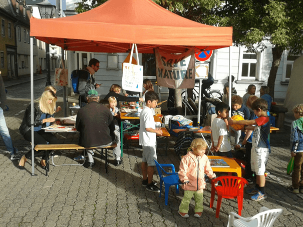 Infostand der Save Nature Group