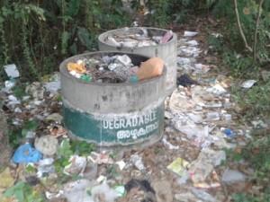 Müllberge im Naturparadies