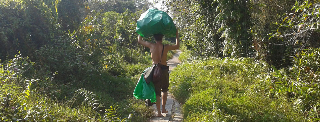 Müllsammelaktion in Indien