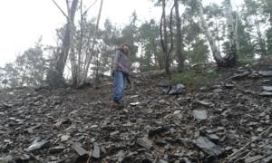 Müll sammen an den Steilhänge