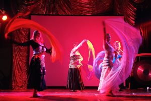 Belly dance group spectrum heart